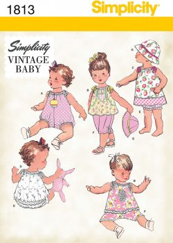 Simplicity Sewing Pattern 1813 - Babies' Vintage Dress & Separates
