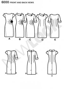 New Look Pattern 6000 - Misses' Dresses