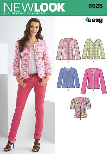 Discontinued) New Look Pattern Jackets Coats 6028 | Sewing Patterns ...