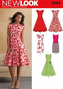 New Look Pattern 6094 - Misses' Dresses