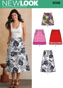 New Look Pattern 6106 - Misses' Skirts