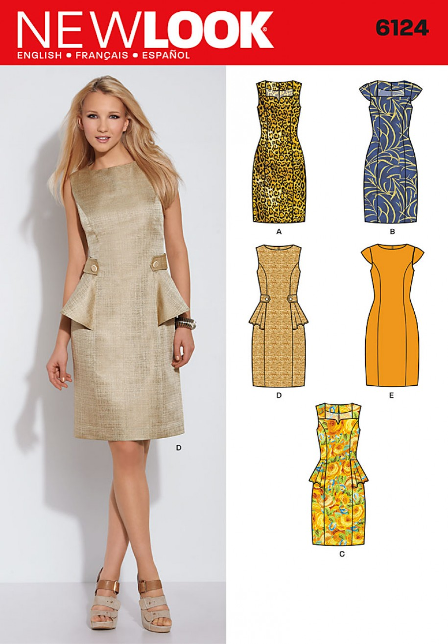 57ce37fdd81b21 Discontinued) Simplicity New Look Sewing Pattern Dresses 6124 ...