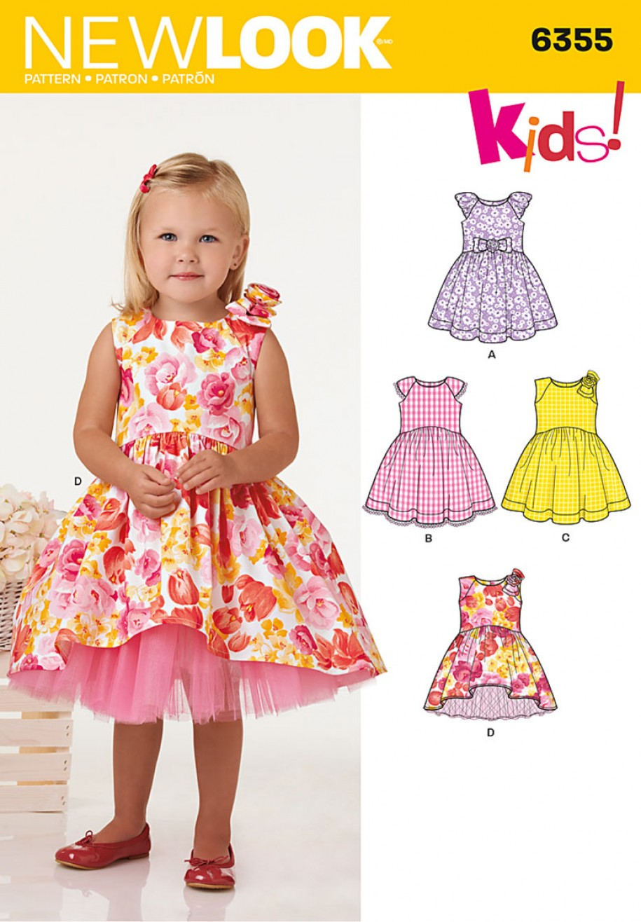 Discontinued New Look Pattern 6355 Toddlers Dress