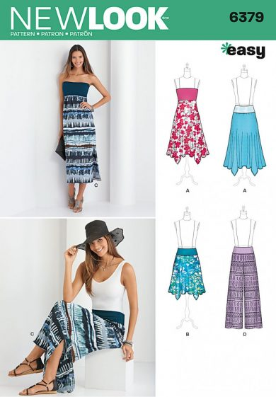 New Look Pattern 6379 - Misses' Pants, Skirt, and Convertible Maxi-Skirt
