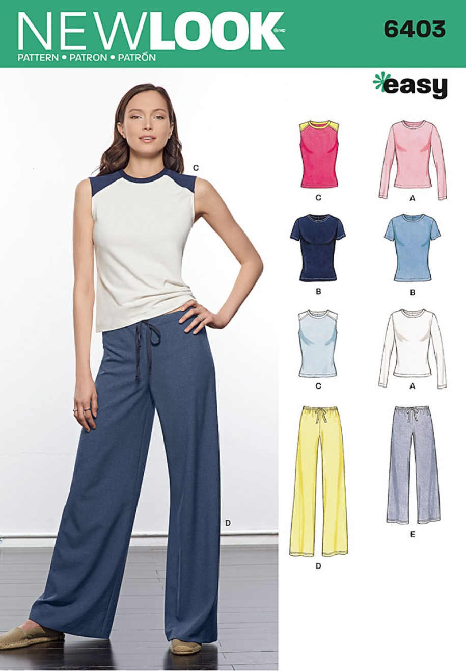 New Look Pattern 6403 - Misses\' Easy Separates | Sewing Patterns Online