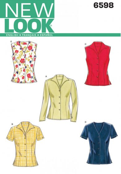 New Look Pattern 6598 - Misses Tops