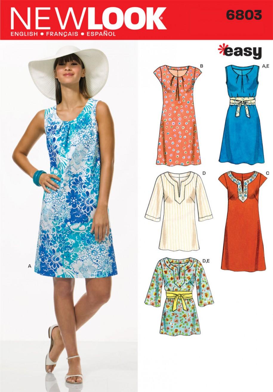 5bbebca8585 New Look Pattern 6803 - Misses  Dresses