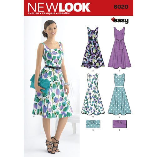 Discontinued) New Look Pattern Dresses 6020 | Sewing Patterns Online