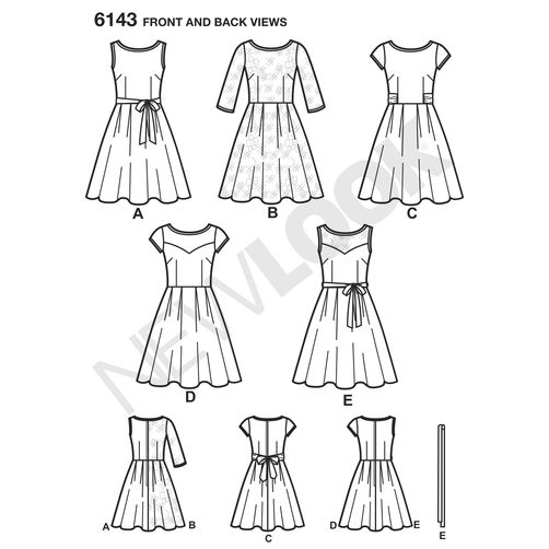 Discontinued) New Look Pattern Dresses 6143 | Sewing Patterns Online