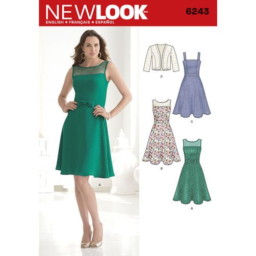 Discontinued) New Look Pattern Dresses 6243 | Sewing Patterns Online