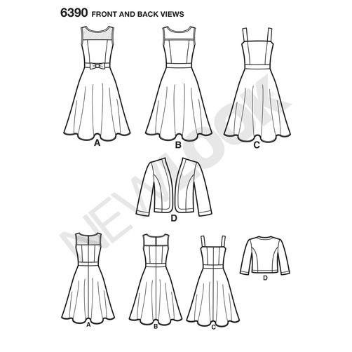 newlook-dresses-pattern-6390-front-back-view