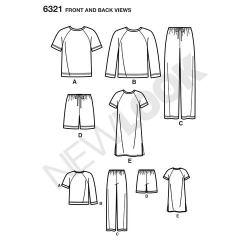 newlook-unisex-scrubs-pattern-6321-front-back-view