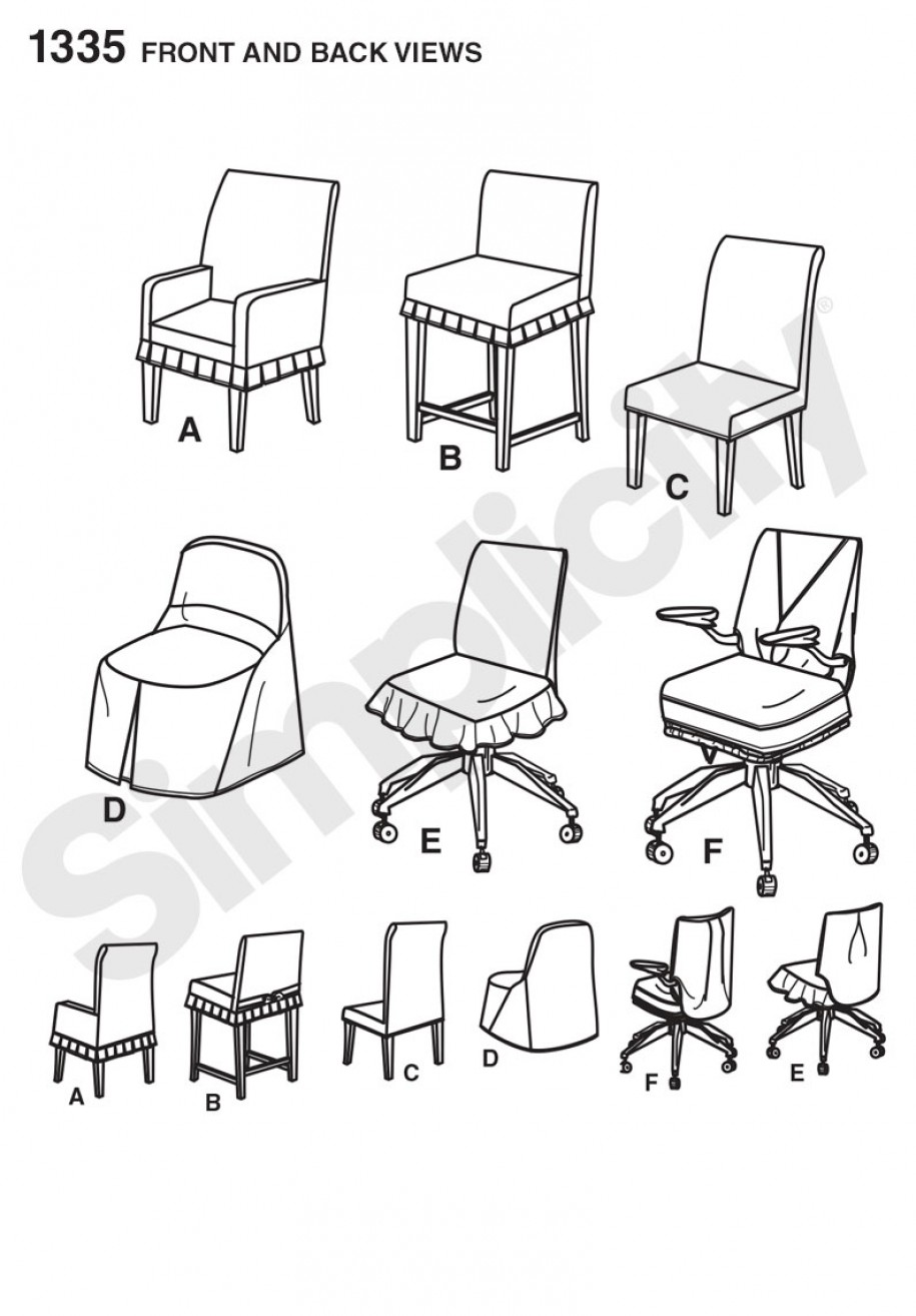 Discontinued Simplicity Sewing Pattern 1335 Chair