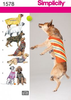 Simplicity Sewing Pattern 1578 - Large Size Dog Clothes