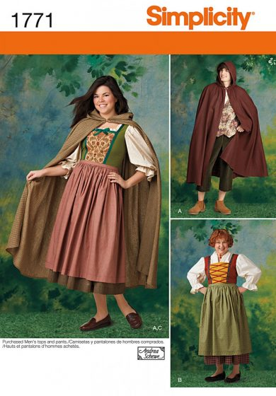 Simplicity Sewing Pattern 1771 - Misses' and Men's Costume