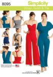 (Discontinued) Simplicity Sewing Pattern 8095 - Misses' Knit Wrap, Twist & Tie Jumpsuit and Romper