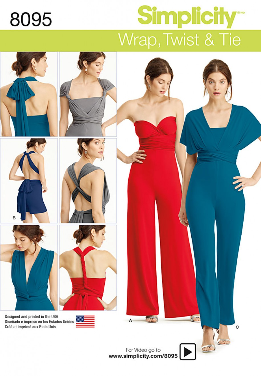 Discontinued) Simplicity Sewing Pattern 8095 - Misses\' Knit Wrap ...