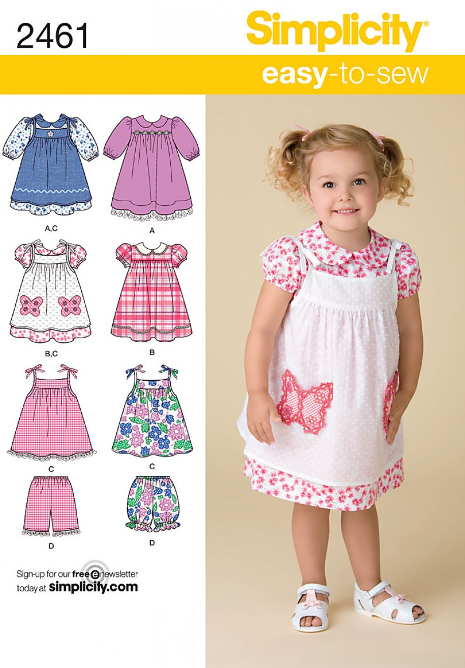Simplicity Sewing Pattern 2461 - Toddler's Dresses ...