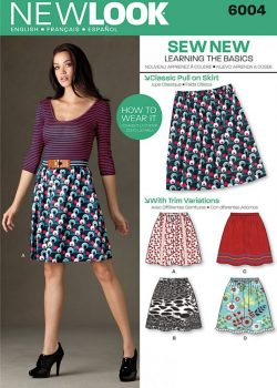 New Look Pattern 6004 - Misses' Learn to Sew Skirts