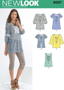 New Look Pattern 6027 - Misses' Tunic or Tops