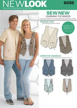 New Look Pattern 6036 - Misses' & Men's Vests
