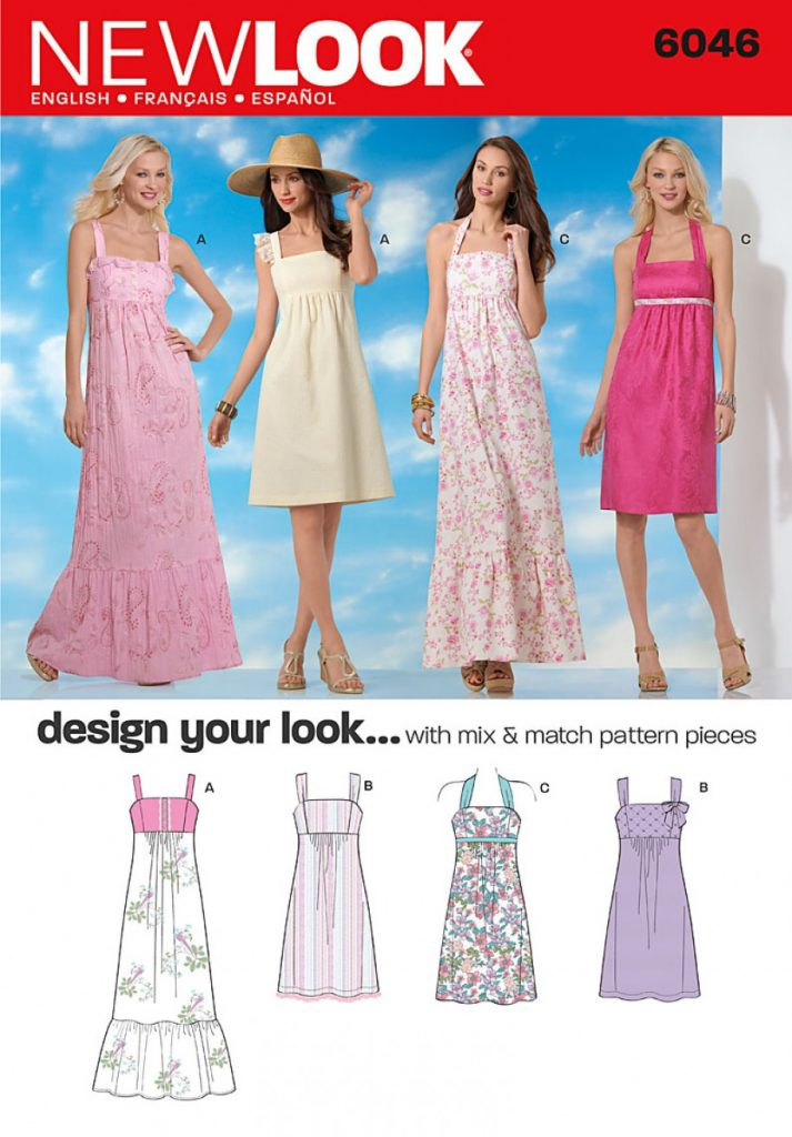 0ab5dc59b2 Discontinued) New Look Pattern 6046 - Misses' Dresses | Sewing ...