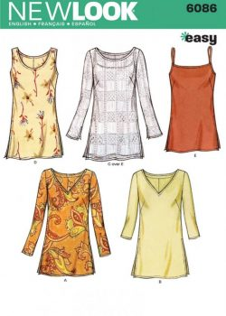New Look Pattern 6086 - Misses Tops