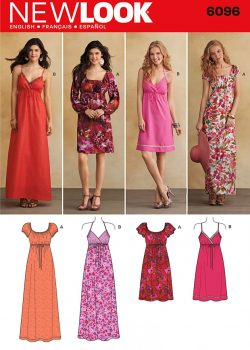 New Look Pattern 6096 - Misses' Dresses