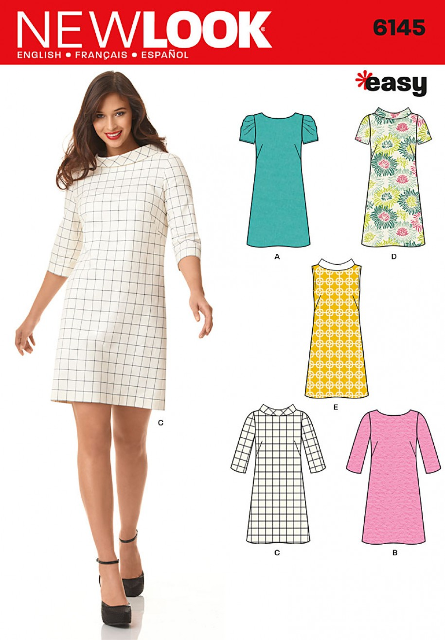 New look pattern 6145 misses dress sewing patterns online new look pattern 6145 misses dress ombrellifo Choice Image
