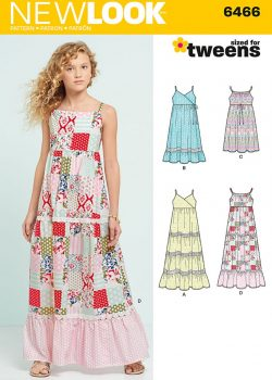 Simplicity New Look Sewing Pattern - Dresses with Trim Bodice and Lace Variations - 6466