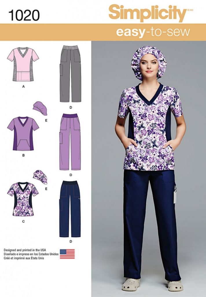 Simplicity Sewing Pattern 1020-BB - Misses and Plus Size Scrubs ...