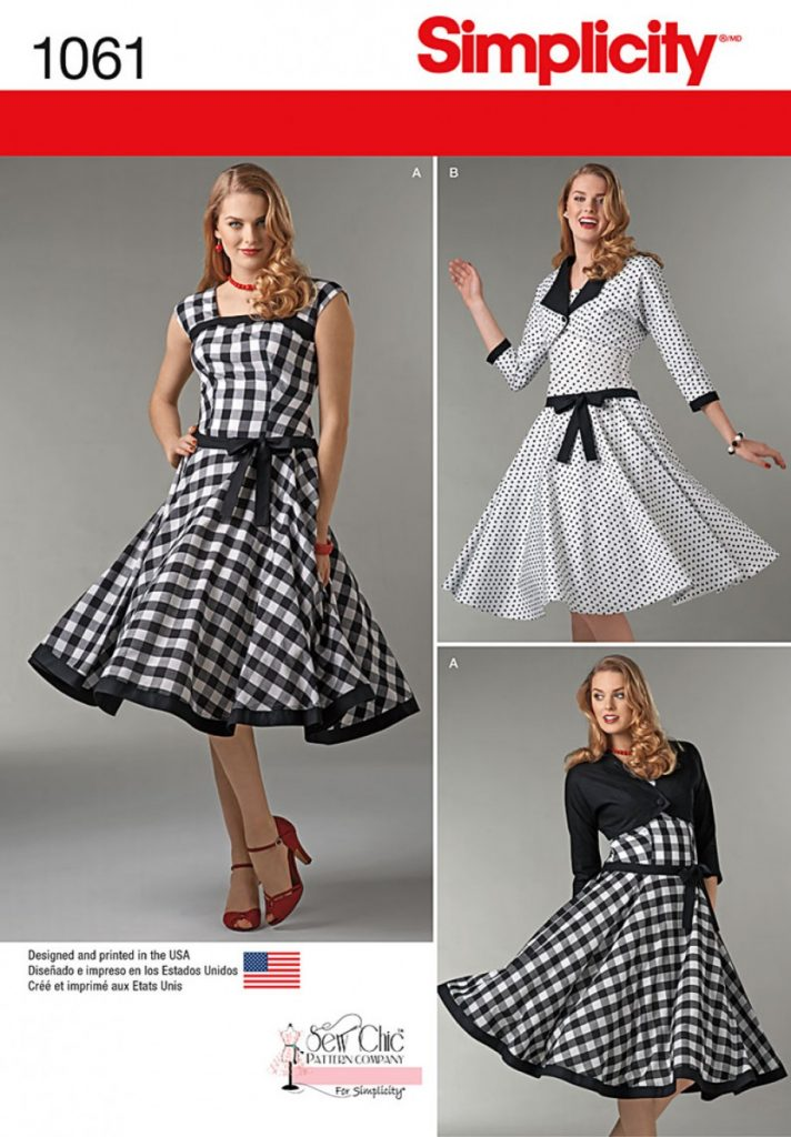 Simplicity Sewing Pattern 1061-D5 - Misses Sew Chic Dress and Lined ...