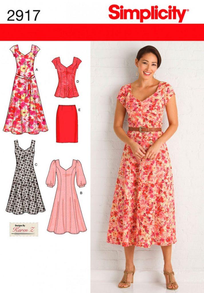 Simplicity Sewing Pattern 2917-BB - Misses & Plus Size Dresses ...