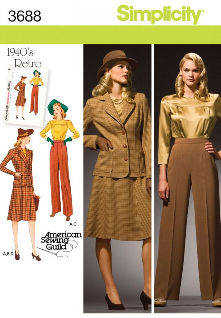 Simplicity Sewing Pattern 3688 Aa Misses Plus Size 1940s Vintage