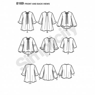 Simplicity Sewing Pattern 8169-A - Loose-Fitting Tunic and Top