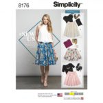 Simplicity Sewing Pattern 8176-D5 - Dirndl Skirts in Three Lengths