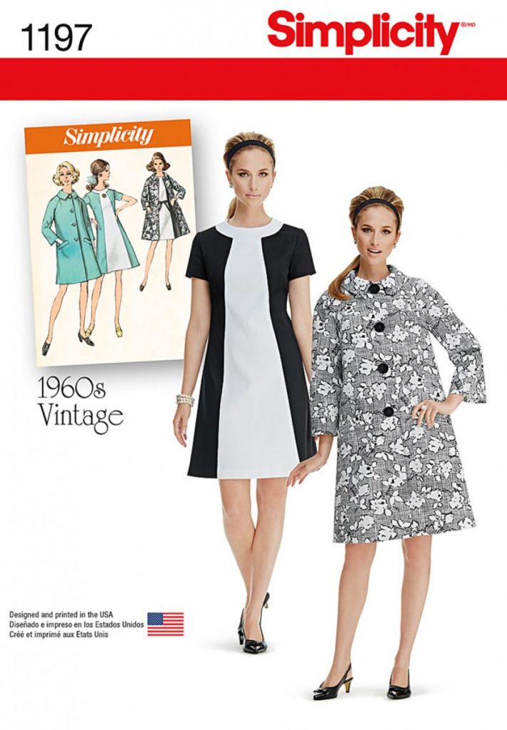 fb72ca87c Simplicity Sewing Pattern 1197-H5 - Misses Vintage Dress and Lined Coat