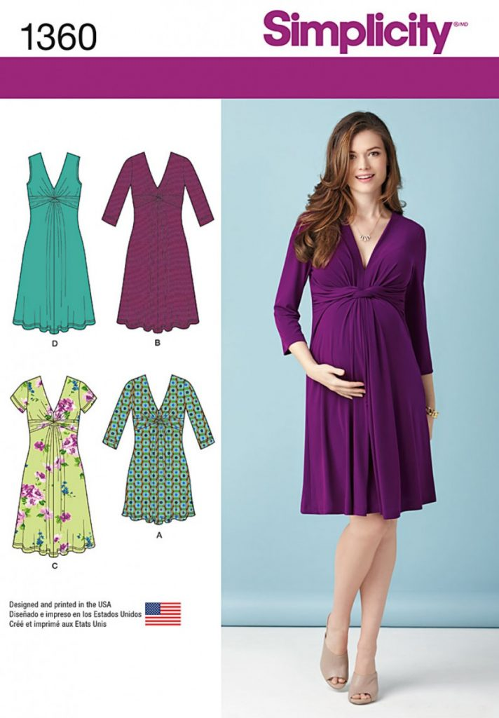 Discontinued) Simplicity Sewing Pattern 1360-U5 - Misses Maternity ...