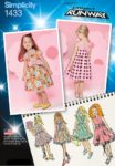 (Discontinued) Simplicity Sewing Pattern 1433-AA - Toddlers and Childs Project Runway Dresses