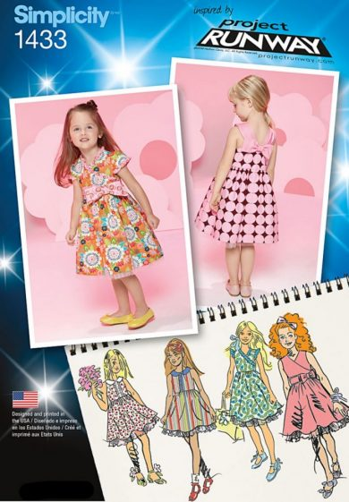 Discontinued Simplicity Sewing Pattern 1433 Aa Toddlers And