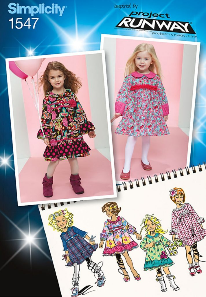 Discontinued Simplicity Sewing Pattern 1547 Aa Toddlers And