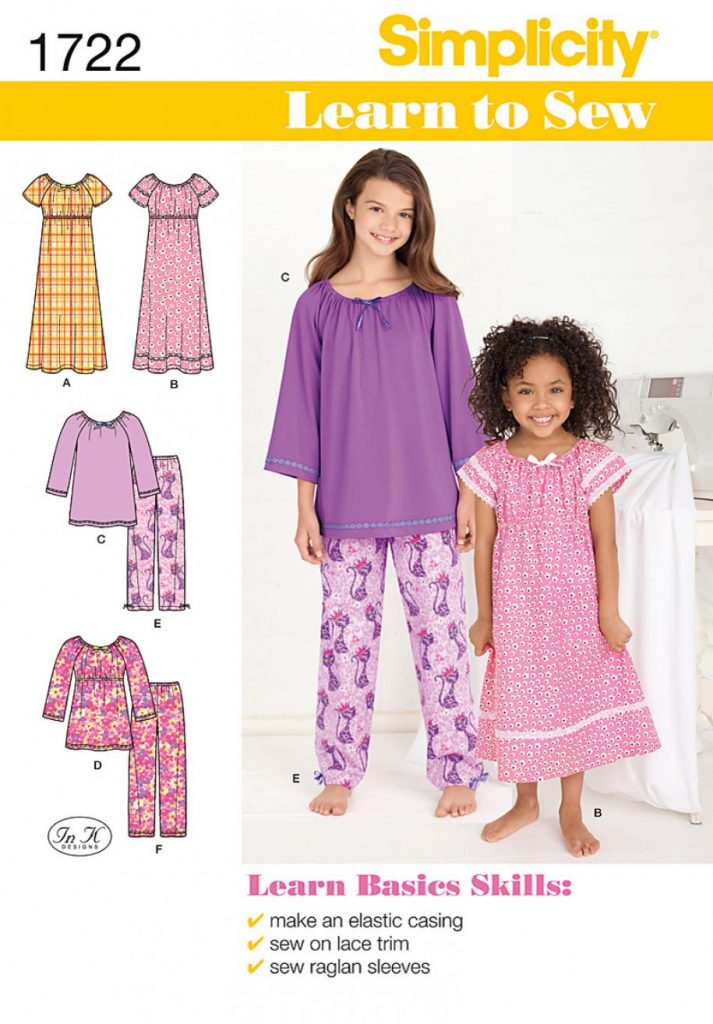 Simplicity Sewing Pattern 1722-HH - Learn to Sew Childs and Girls ...