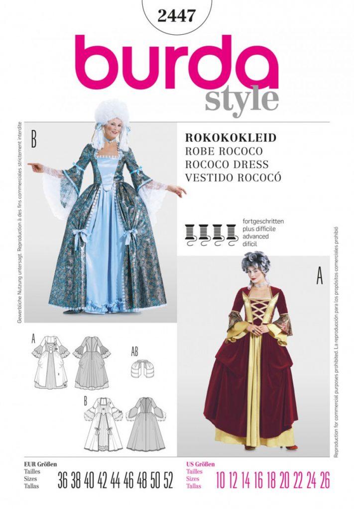 Burda Style Sewing Pattern - 2447 - Rococo Dress Historical Costumes ...