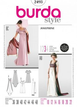 Burda Style Sewing Pattern - 2493 - Josephine Historical Costumes