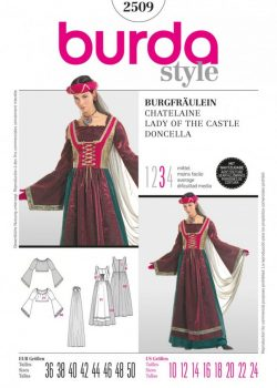 Burda Style Sewing Pattern - 2509 - Lady Of The Castle Historical Costumes