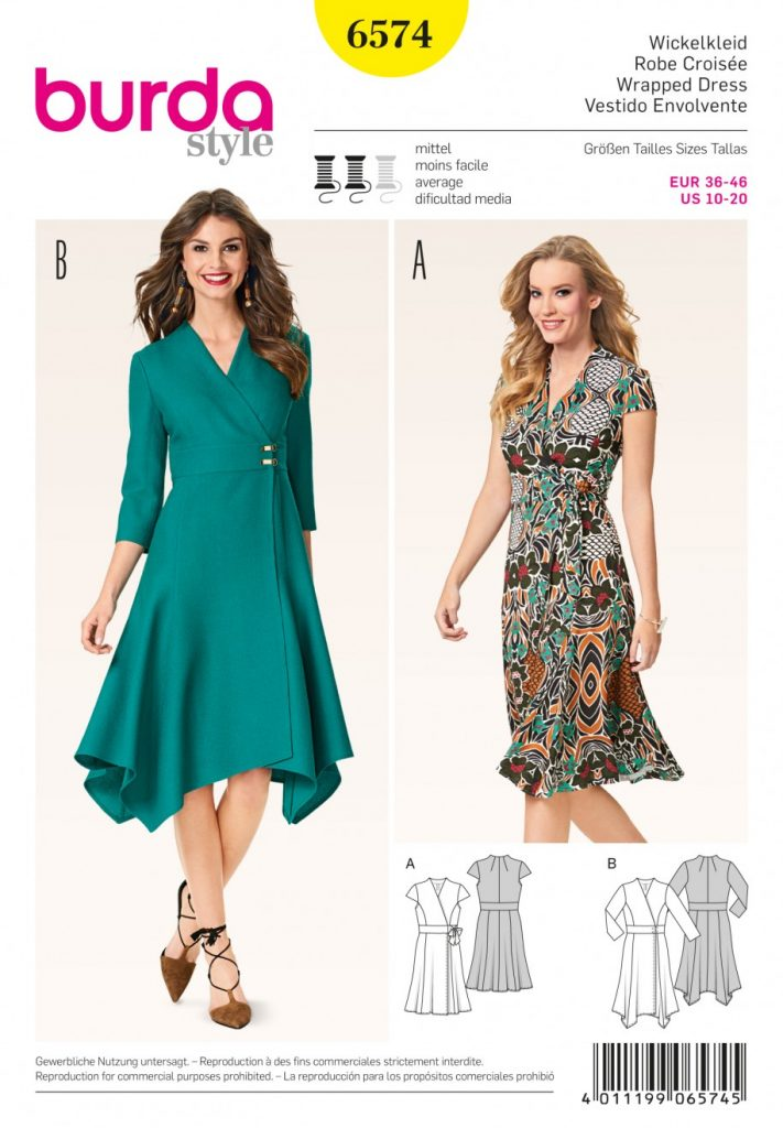Burda Style Sewing Pattern - 6574 - Dresses | Sewing Patterns Online