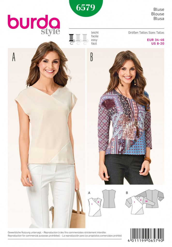 Burda Style Sewing Pattern - 6579 - Tops