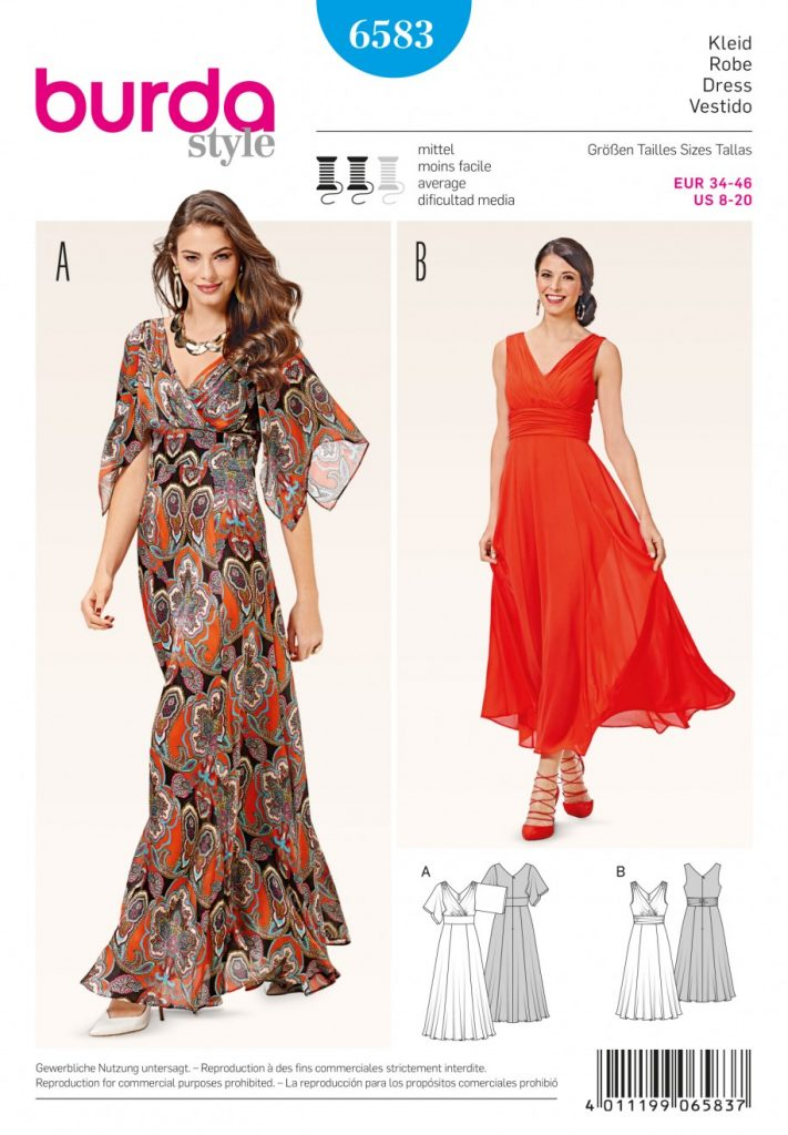 Burda Style Sewing Pattern - 6583 - Dresses | Sewing Patterns Online