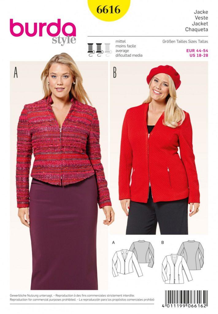 Burda Style Sewing Pattern - 6616 - Coats & Jackets | Sewing ...