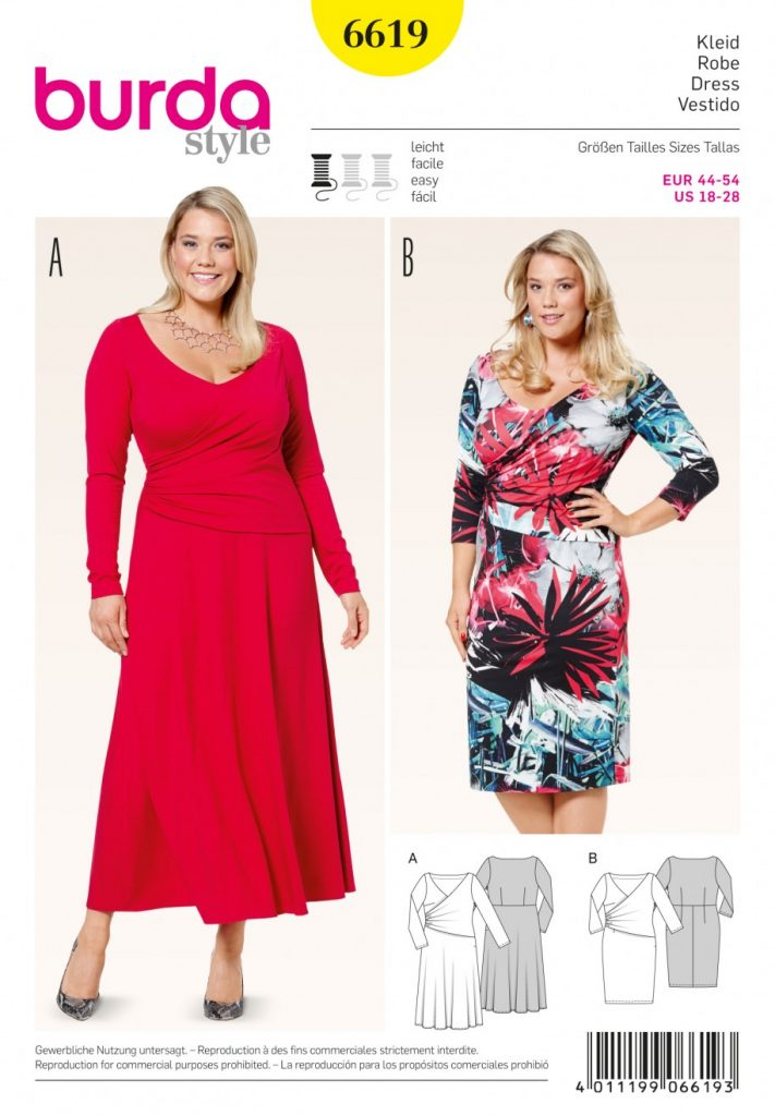 Burda Style Sewing Pattern - 6619 - Dresses | Sewing Patterns Online
